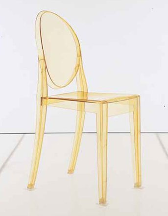 kartell victoria ghost chair box of 2 transparent yellow amazon