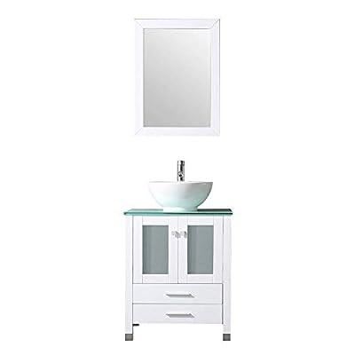"24"" White Bathroom Vanity"