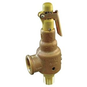 "Kunkle 6010FEV01-KM0050 Bronze ASME Safety Relief Valve for Air/Gas, Viton Soft Seat, 50 Preset Pressure, 1"" NPT Male Inlet x 1-1/4"" NPT Female Outlet from Tyco Valves & Controls"