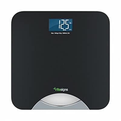 Vitasigns VS40132-0200 Bathroom Scale, Black
