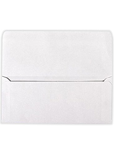 Currency Envelopes (2 7/8 x 6 1/2) - 70lb. White (50 Qty.) | Perfect the HOLIDAYS, Birthdays, Graduations, Company Bonuses, Gifts, Money and More! | CUR-00-50