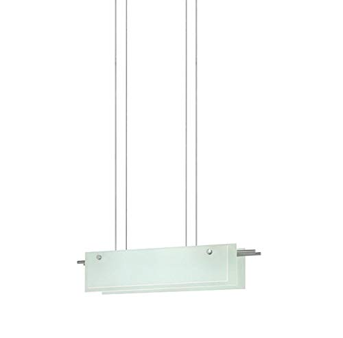 13 Sonneman Suspended Glass - Sonneman 3217-13LED 3217.13LED Contemporary Modern Pendant from Suspended Glass Slim Led Collection in Pwt, Nckl, B/S, Slvr. Finish, 6.50 inches, 24