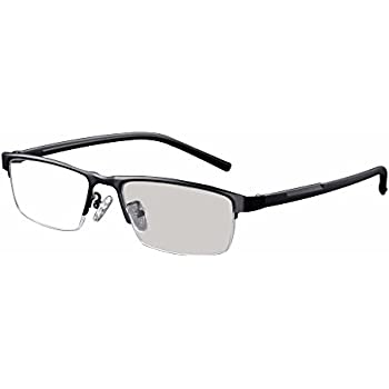 7778cbf5c9e Transition Photochromic Reading Glasses Pocket Reader Metal Frame with Case  Farsighted UV400 Sunglasses +1.0 to +4.0 (+1.25