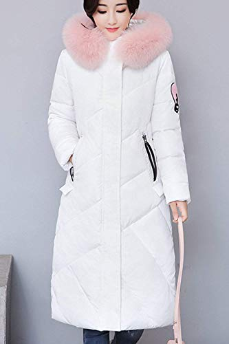 Fashion Crossover Pelliccia Outdoor Addensato Warm Con Long Winter Ladies Cappuccio Longsleeve Parker Elegante Bianco Saoye Cappotto Trapuntato Casual Parka Di fw6dTcq