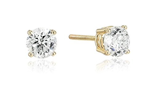14k Yellow Gold Round Cut Diamond Screw Back and Post Stud Earrings (3/4cttw, H-I Color, I2 Clarity) 14k Yg Diamond Earrings
