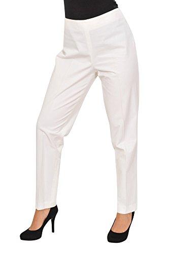 Brunello Cucinelli Pantaloni Donna 48 IT bianco cotone normale Taglio Largo