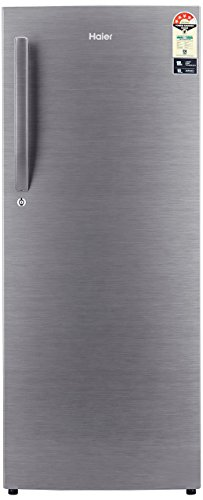 Haier 220 L 4 Star  2019  Direct Cool Single Door Refrigerator HRD 2204BS R/HRD 2204BS E, Brushline silver