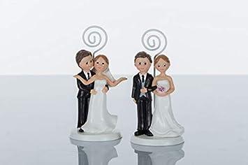 Segnaposto Matrimonio Sposi.Memoclip Segnaposto Matrimonio Sposi Sposini Amazon It Giochi E