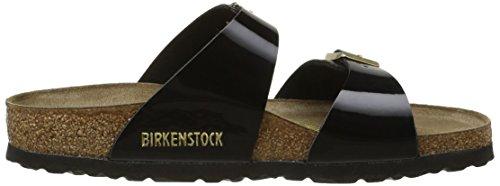 Birkenstock Sydney - Sandalias de Vestir Mujer Negro (Vernis Noir/Or)