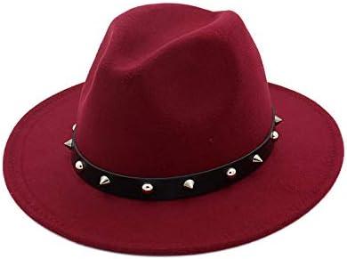 YJIU Sombreros de Fieltro Mujeres Hombres Fedora Lady Trilby ...