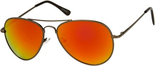 sunglass-warehouse-miami-1285-grey-frame-with-red-org-mirrored-lenses-unisex-aviator-sunglasses