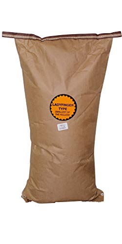Amish Country Popcorn - 50 Pound Bag Ladyfinger Kernels - Perfect For Fundraisers - Old Fashioned, Non GMO, Gluten Free, Microwaveable, Stovetop and Air Popper Friendly with Recipe Guide