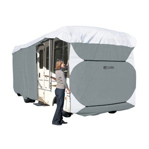 Classic Accessories OverDrive PolyPRO 3 Deluxe Extra Tall Class A RV Cover, Fits 33' - 37' RVs - Max Weather Protection with 3-Ply Poly Fabric Roof RV Cover (77663)