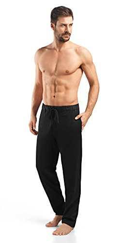Hanro Men's Night and Day Knit Lounge Pant, Black, XX-Large by HANRO (Image #1)