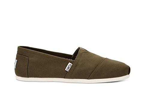 TOMS Men's Classic Canvas Slip-On, Military Olive - 10 D(M) US for $<!--$36.54-->