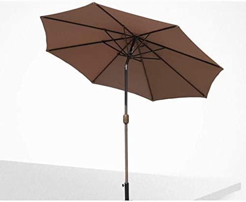 CHHDガーデンパラソル、屋外2.7 M鉄8リブ屋外パティオガーデンパラソル手動操作傘(色:緑)