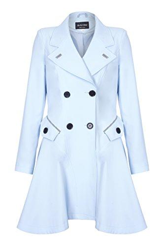 La De Impermeable Creme Azul Flair Primavera amp; Mujer Fit dqUrxqpw4