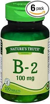 Nature's Truth B-2 100 mg - 100 Tablets, Pack of 6