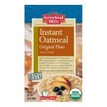 Arrowhead Mills Organic Original Plain Instant Oatmeal Hot Cereal, 1 Ounce -- 120 per case.