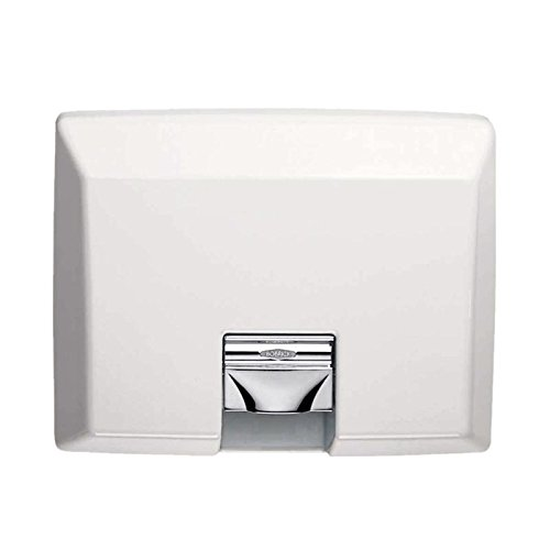 Bobrick 750 Cast Iron AirCraft ADA Recessed Automatic Hand Dryer, White Vitreous Enamel Finish, 115V