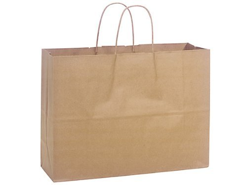 ABC Kraft Paper Shopping Bag Vogue, 16 x 6 x 12 1/2