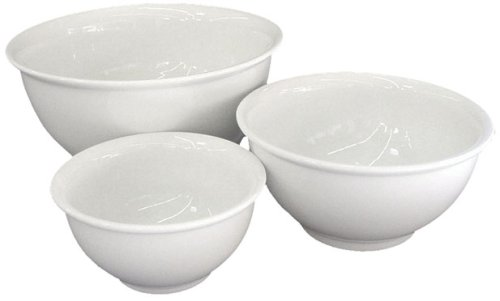 BIA Cordon Bleu 3-Piece Mixing Bowl Set, White