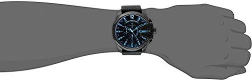 Diesel Men's DZ4323 Mega Chief Black Ip  Leather Watch by Diesel (Image #2)'