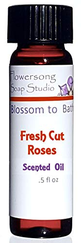 Blossom to Bath Fresh Cut Roses Scented Oil (.5 oz) - Newly Blossomed Rose - Fragrance for Your Home