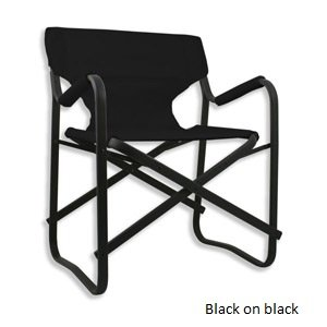 Thermoplastic Powder Coating - Sophiste Black Magic Chair (Black) The award winning design of our industry-leading Sophiste Chair, with a thermoplastic carbon graphite powder coating. This cutting edge process produces a high specification coating which is relatively hard, abrasion resistant and tough. It also gives the BlackMagic chair a longer window for outdoor use before they will be adversely affected by moisture. The design remains the same, a super light, super strong, folding chair. Features a cordura seat, on a reinforced aluminium frame. Unique in the market for the superbly comfortable, high-top back, with ergonomic armrests perfect for beach, deck, boating or beside the pool. Available in Jet Black, Red & White.