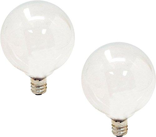 (8 Pack) GE Lighting 44414 40-watt 290-Lumen Candelabra Base G16.5 Globe Bulb, Soft - G16.5 Globe 40w