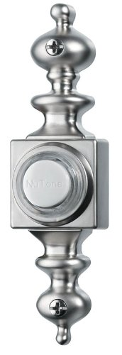 (NuTone PB4LSN Wired Lighted Door Chime Push Button, Satin Nickel)