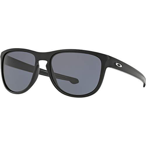 Oakley Men's OO9342 Sliver R Rectangular Sunglasses, Matte Black/Grey, 57 mm (Original Oakley Frogskins)