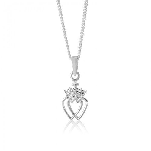 Sterling Silver Celtic Crowned Heart (Celtic Crowned Heart Pendant)