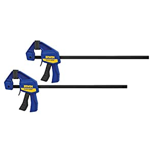 "IRWINQUICK-GRIPOne-Handed Mini Bar Clamp 2 Pack, 12"", 1964745"