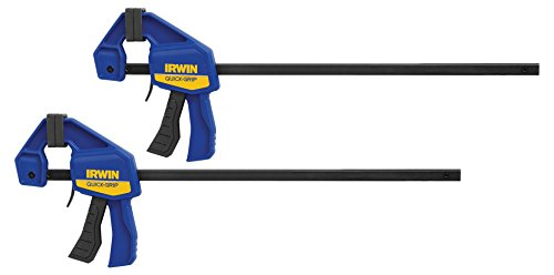 IRWINQUICK-GRIPOne-Handed Mini Bar Clamp 2 Pack, 12'', 1964745 by Irwin Tools