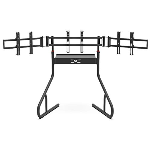 Extreme Sim Racing Triple Screen Tv Stand Add-on Upgrade With Back Tray - Fits almost all Sim Racing Rigs in the Market - Suitable for TV sizes up to 3 x 37