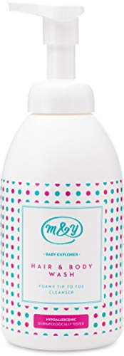 Mum & You Baby Explorer Hair & Body Wash, 1 ea (17.58 fl oz), Gentle Foamy Cleanser. No Tears, Light Bedtime Fragrance. Formulated with No Major Allergens. Suitable for Sensitive Skin.
