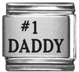 Number 1 Italian Charm (Number 1 Daddy Laser Italian Charm)