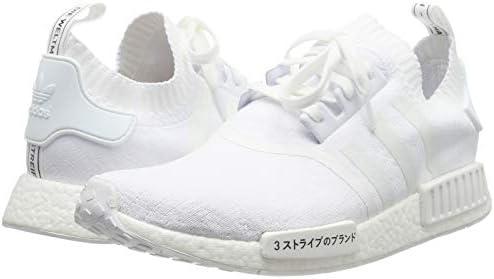 Adidas NMD R1 Primeknit, Basket Mode Homme Blanc (Footwear WhiteFootwear WhiteFootwear White) 39 13 EU