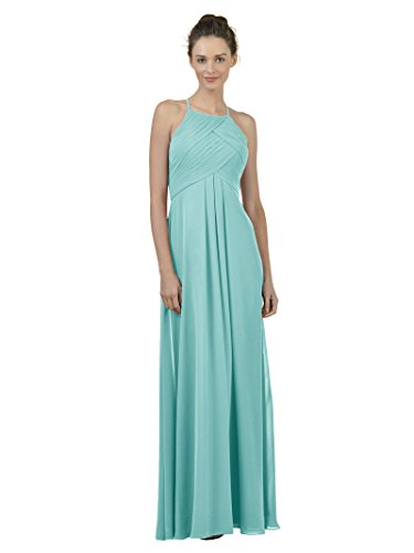 - Alicepub Long Chiffon Bridesmaid Dress Maxi Evening Gown A Line Plus Party Dress, Tiffany, US10