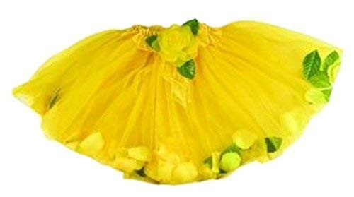 - Girls Yellow Ballet Tutu Perfect Fairy Costume Accessory Rose Flower Petal Tutu