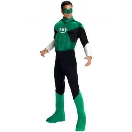 Deluxe Muscle Chest Green Lantern Adult Costume - X-Large
