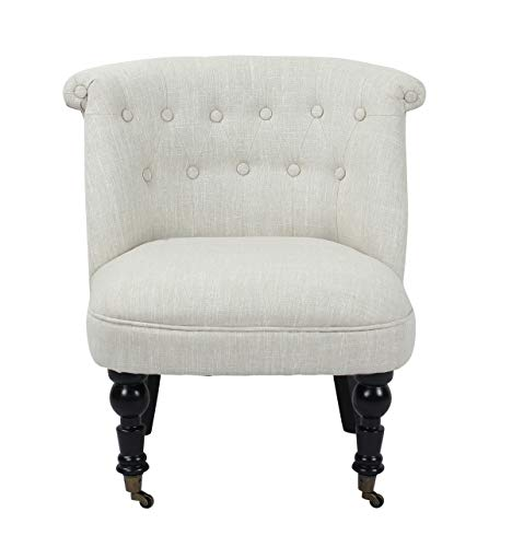 Bombay TB-7433-1 Charles Tufted Accent Chairs, Set of 2, Linen