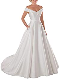 Women's A Line Long Wedding Dress Sweetheart Neckline Plus Size Bridal Dresses for Bride