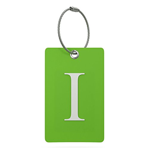 Luggage Tag Initial - Fully Bendable Tag w/Stainless Steel Loop (Letter I)