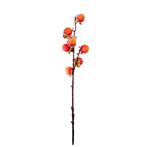 - telaite Fake Artificial Rose Fruit Peach Berries Bouquet Floral Berry Garden Decor Green(Orange)