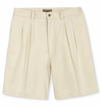 Harbor Bay Big & Tall Waist-Relaxer Pleated Twill Shorts
