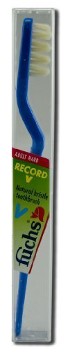 Record-v Adult Hard Toothbrush #230 Natural (Pack of 10) (Colors May Vary) by Fuchs