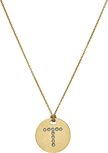 Roberto Coin Women's Tiny Treasures 18K Yellow Gold Initial T Pendant Necklace Yellow Gold One Size (Diamond Coin Necklace Roberto 18k /)