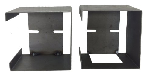 Set of Steel Trailer Square Tail Light Mounting Boxes – 24017/24018